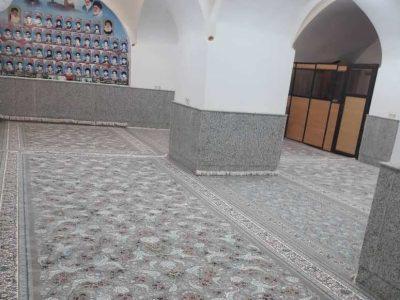به همت خیرین بافق مسجد آمیرزامحمد حسین فرش شد+تصاویر