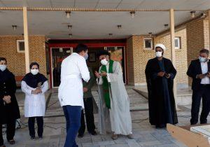مراسم تجلیل از مدافعین سلامت توسط مجتمع فرهنگی مذهبی امام حسن مجتبی علیه السلام مسکن مهر بافق برگزار شد