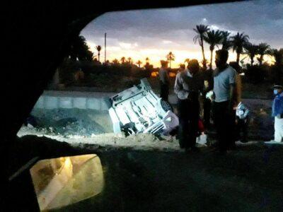 بازهم حادثه در جاده باقرآباد/مسئولین مشغول کارند!+تصاویر