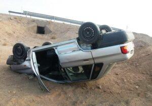 فوت جوان ۲۱ ساله براثر واژگونی خودرو در مسیر بافق به سیریز