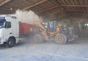 ارسال خاک فسفات سوریه به شرکت فرآیند کود و سم بافق جهت حمایت از تولید داخل