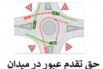 حق تقدم در میدان با کدام وسیله نقلیه است؟
