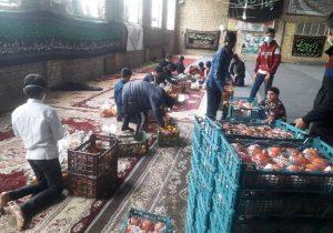 اهدا بسته های یلدایی به ۱۲۸ خانواده نیازمند توسط تکیه امام حسن مجتبی (ع) محله سفلی
