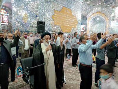 آیین تحویل سال نو در امامزاده عبدالله(ع) بافق