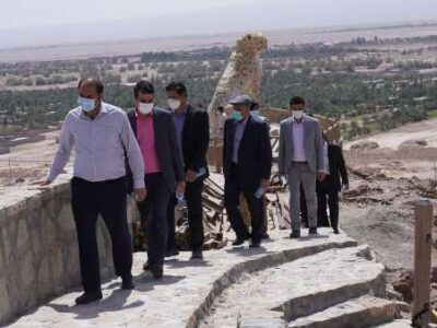 بازدید شهردار و اعضای شورای شهر حمیدیا و مدیران واحد های شهرداری از شهر بافق