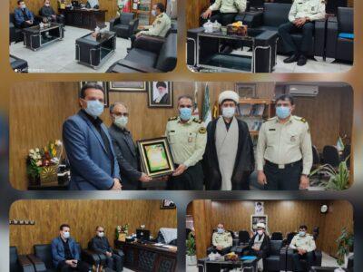 دیدار رئیس و مدیریت بیمارستان حضرت ولیعصر ( عج) بافرماندهی انتظامی بافق