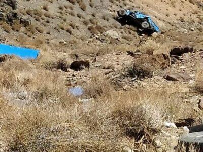 واژگونی خودروی نیسان در مسیرکوشک با یک مصدوم