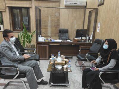 دیدار رئیس اداره بهزیستی با شهردار شهرستان بافق
